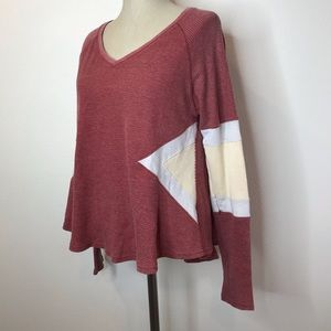 Free People thermal henley size medium